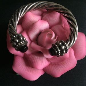 Accessories - Twisted Sterling Silver Cable Cuff